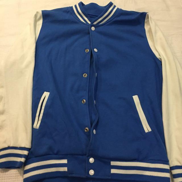 Men's Blue Varsity Jacket