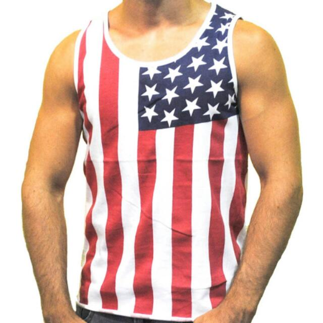 fbeaff83626a Mens summer fashion tank tops American flag printed vest mens hiphop ...