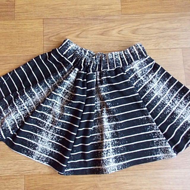 NEW-Mini Strip Grunge Skirt