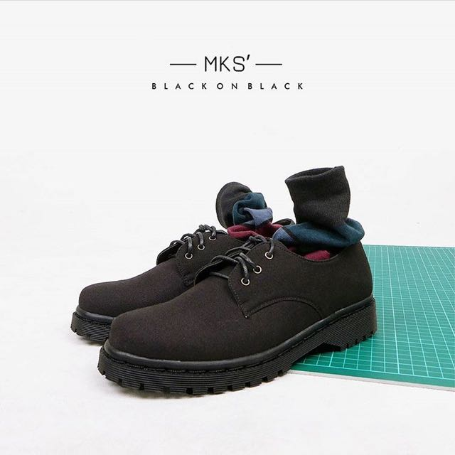 MKS Shoes Black On Black Boots