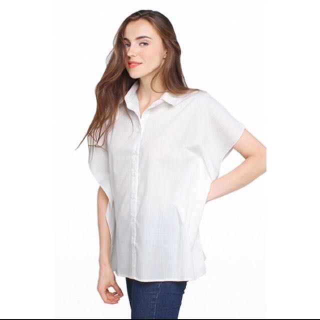 [NEW] COTTON INK - Kimmoe Top In White