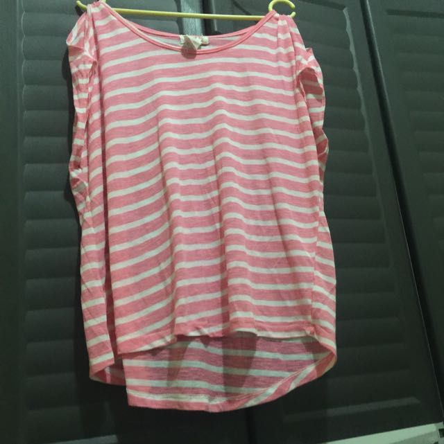 💝 OP pink striped top