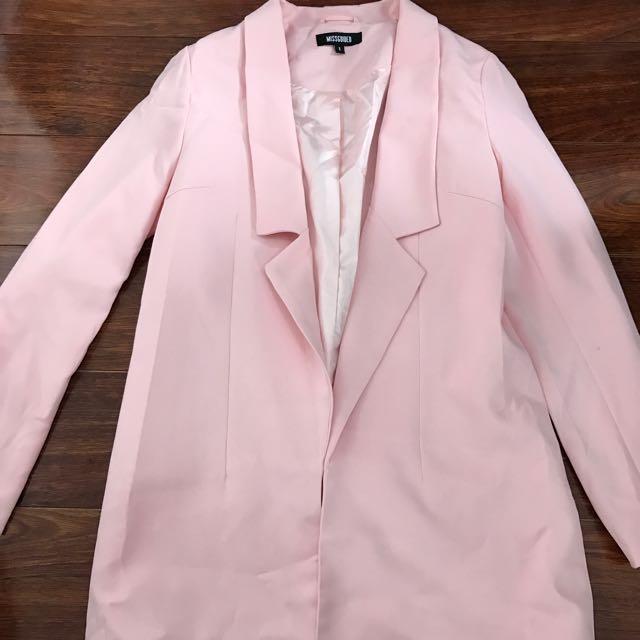 Pale Pink Boyfriend Blazer