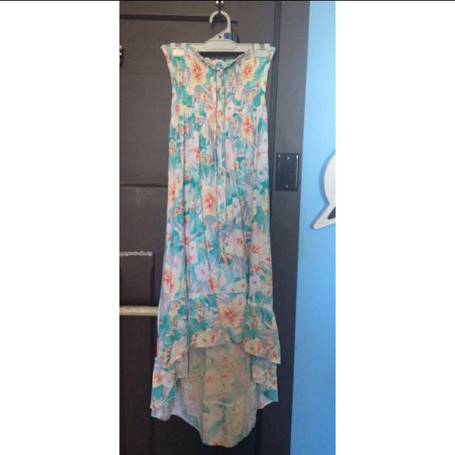 Piping Hot Maxi Dress - Strapless or Halter Neck