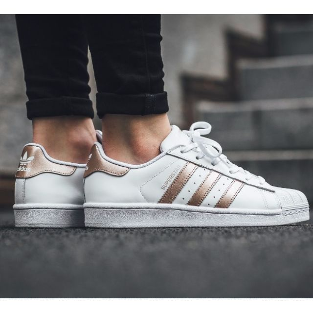 white and gold superstar adidas