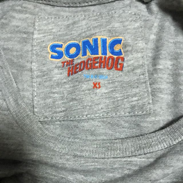 Primark Sonic Hedgehog Grey T Shirt Xs Men S Fashion Clothes On Carousell