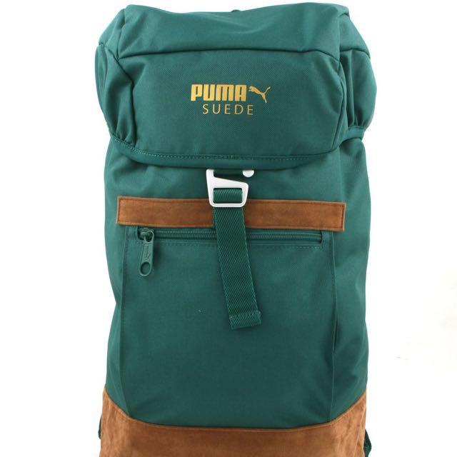b9efa62f894b Puma Suede Backpack - Posy Green