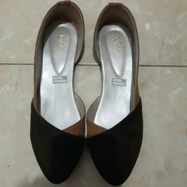 REPRICE!! Flatshoes Coklat
