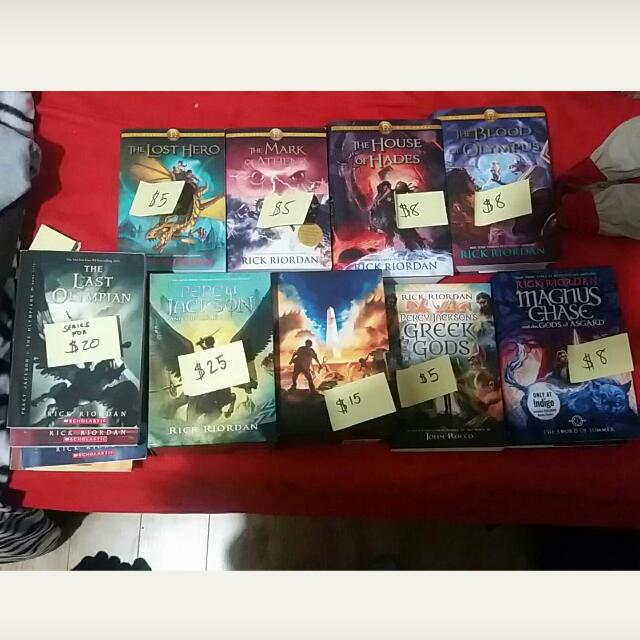 Rick Riordan Books And Hogwarts Library