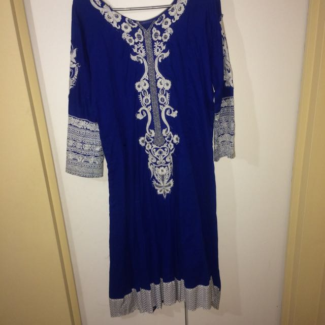 Royal Blue Indian Dress