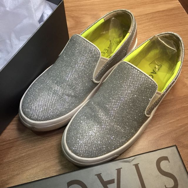Slip On Sneakers Staccato Silver