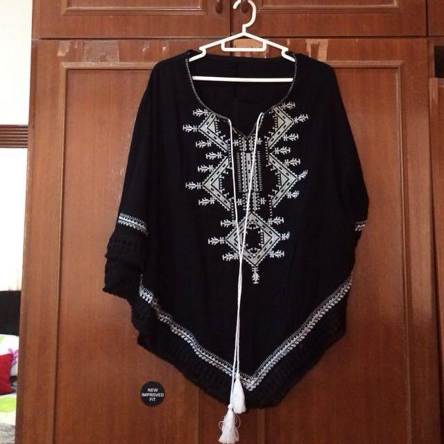 Sunny Boho Top (black)
