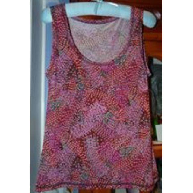 Tengdahl size 2/12 stretch patterned top, brisbane boutique designer euc