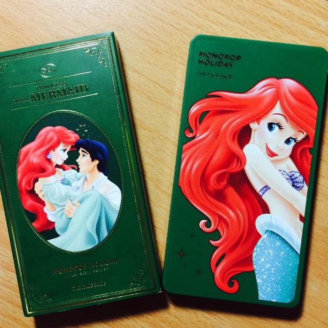 the face shop x 迪士尼公主 眼影盤  小美人魚