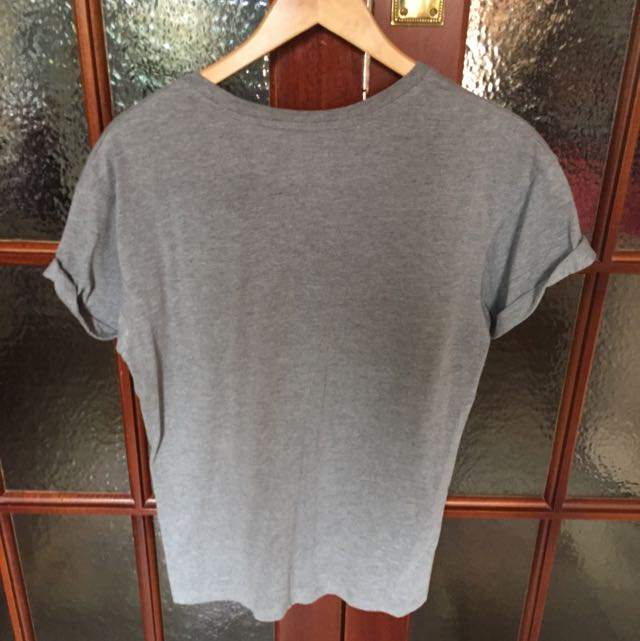 Topman T Shirt Rolled Sleeves - Small
