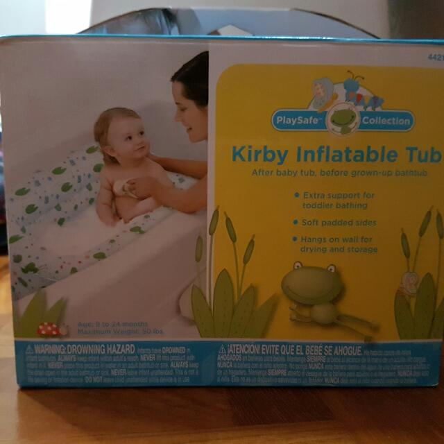 Kirby inflatable tub (frog design), Babies & Kids on Carousell