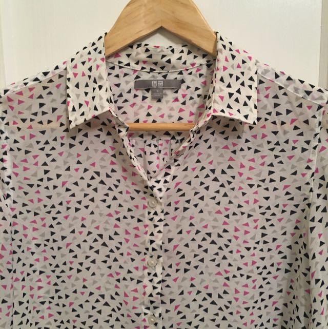 Uniqlo Chiffon Shirt - Size Small
