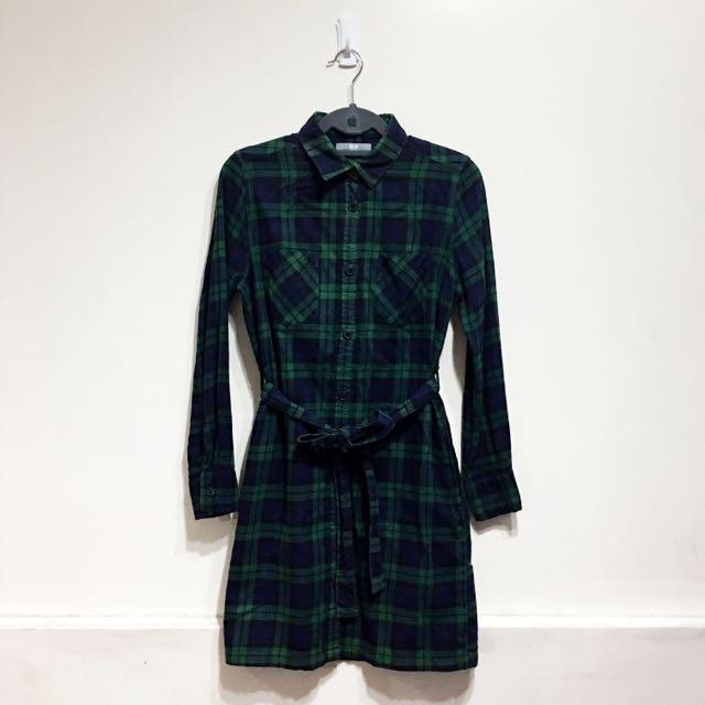 Uniqlo Flannel Shirt Dress