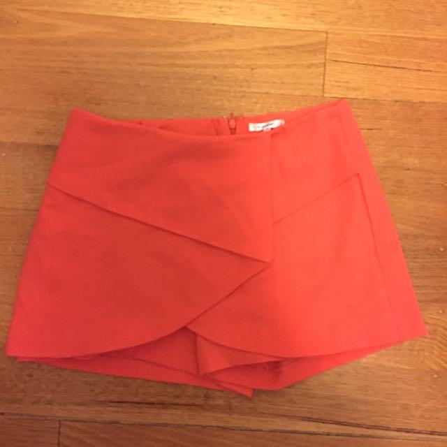 Valleygirl Orange Skort/shorts/skirt