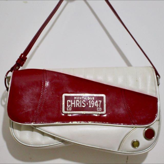 VINTAGE CHRISTIAN DIOR License Plate Montaigne Chris 1947 Car Bag