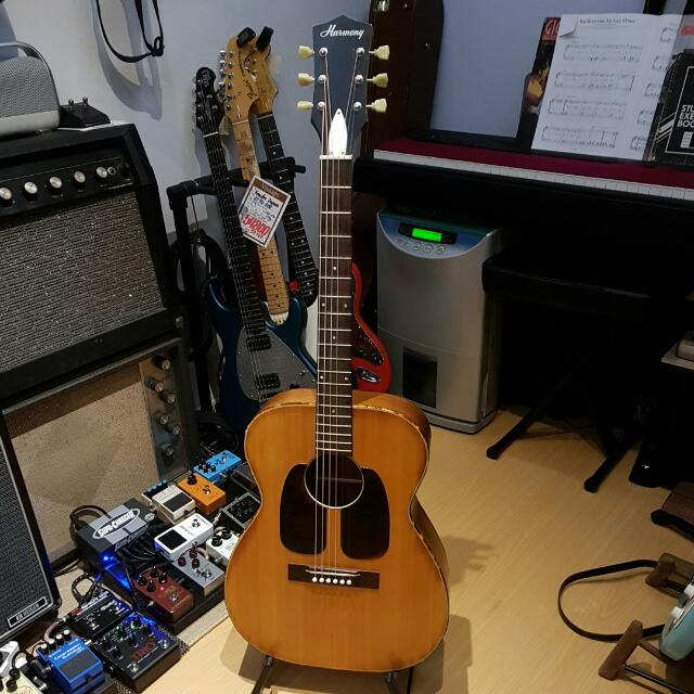 Vintage Harmony H162 Acoustic Guitar (Rare Double Pickguard