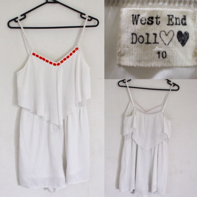 WEST END DOLL White Summer Playsuit