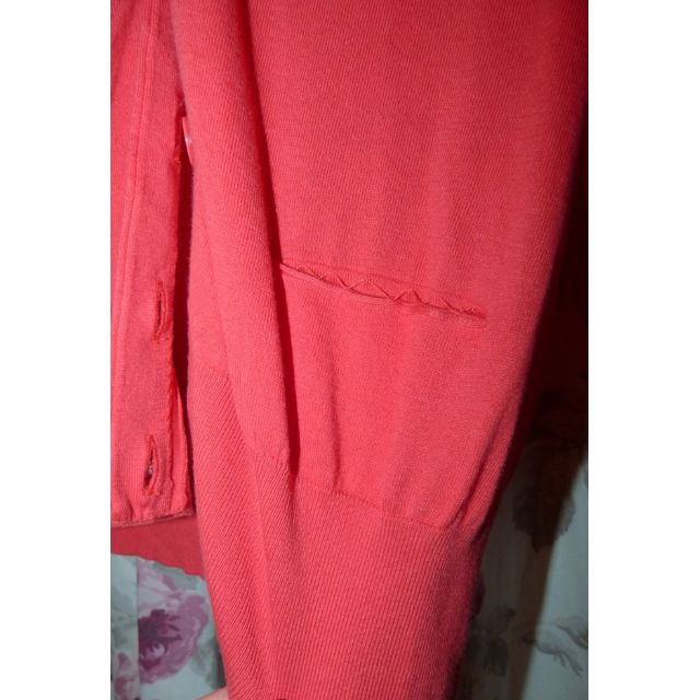 Witchery Medium Cotton coral cardigan EUC pockets still stitched up. great colour for summer