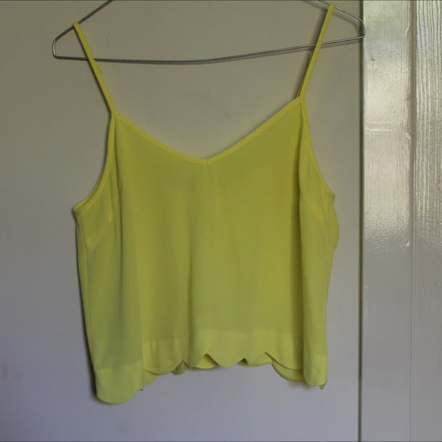 Yellow Scalloped Top