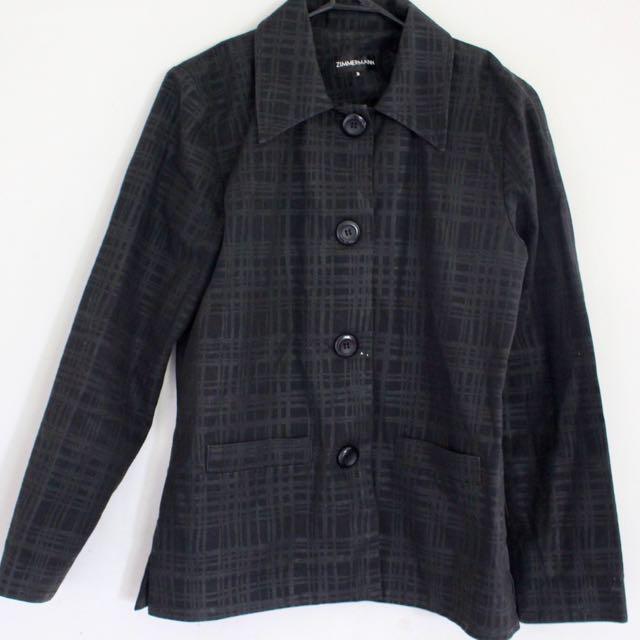 ZIMMERMAN Black Coat Jacket