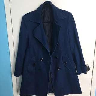 Dark Blue Trench Coat
