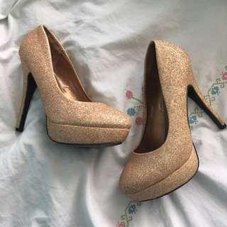 Golden Glitter Stilettos
