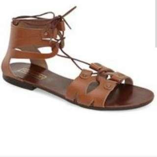 Topshop Gladiator Sandals In Tan
