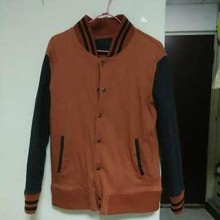 🚚 降價暗橘色棒球外套