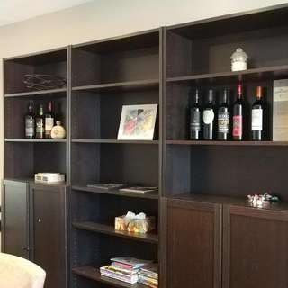 Set Of 3 Ikea Billy Bookshelves