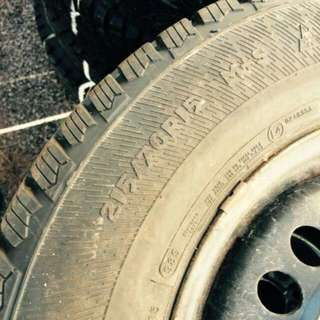 Winter Tires 215/70/15 On 5x115 Steel Rims