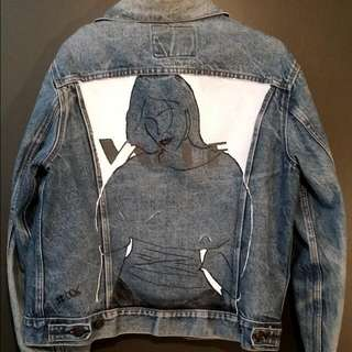 Hand Painted vintage Denim Jacket