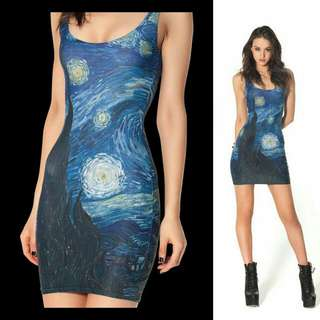 BLACK MILK CLOTHING STARRY NIGHT DRESS SIZE MEDIUM IN EXCELLENT CONDITION