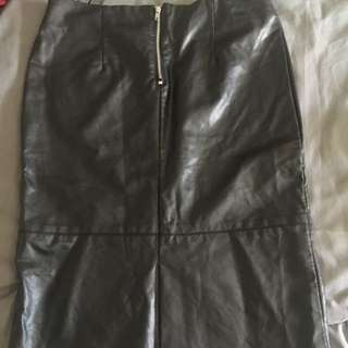 Black Forever 21 Faux Leather Skirt