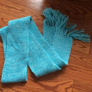 Brand New Blue Knit Scarf