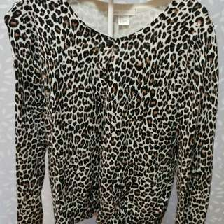 Ladies Leopard print Cardigan- H&M