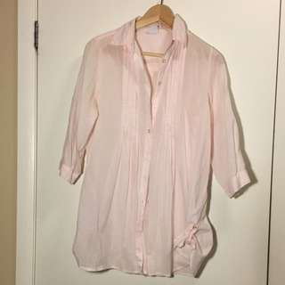 Pink Long Cotton Shirt