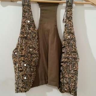 Zara Beaded Vest (Medium)