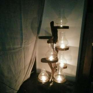 9 Tier Wooden Candle Standy