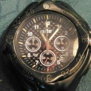 Nite GX40 SAS Watch Head Military Grade Watch Special Forces SASR Marines SF GX40-003 GX 40 003 Carbon Fibre Tritium Extreme Sports Camping UK Any Climate Watch Stainless Steel Casing Authentic Water Resistant 200m H3Glo Sapphire Crystal Japan Movement