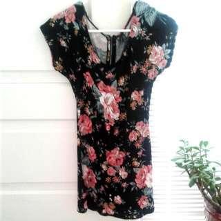 Glassons Black Floral Dress