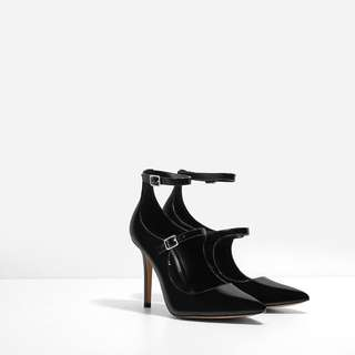 Charles And Keith C&K MULTI-STRAP POINTED STILETTOS (Size 35)