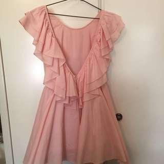 Pink Frill Dress Size 8