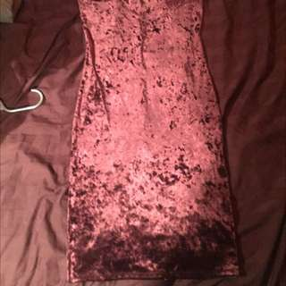 High Neck Long Velvet Dress Forever21