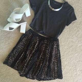 Animal Print Skirt Size 10