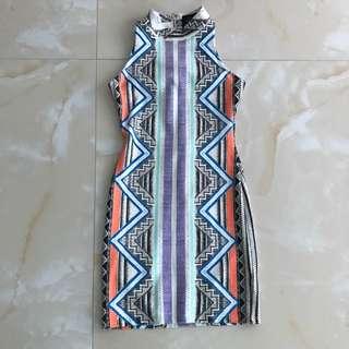 Doll House - Aztec print mini dress